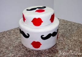 mustache and lips baby shower cake ashlee marie