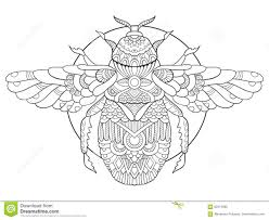 bumblebee coloring book adults vector stock vector image
