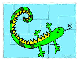 lizard puzzle printable for kids free printable crafts