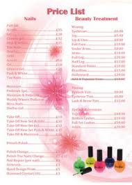 spa nails price list msp pinterest price list spa and salons