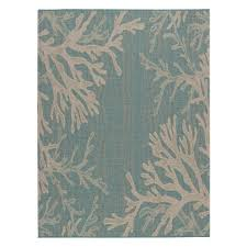 Aqua Outdoor Rug Hton Bay Reef Aqua 5 Ft 3 In X 7 Ft 4 In Indoor Outdoor