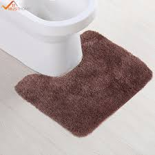 Brown Bathroom Rug 50cmx50cm High Quality Back Bathroom Toilet Rug Brown Non