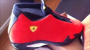 jordan ferrari air jordan retro 14 ferrari bad quality official shoe review youtube