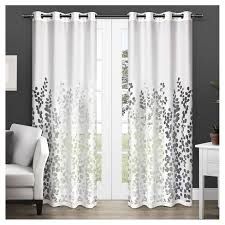 sheer window treatments wilshire sheer window curtain panel pair white exclusive home