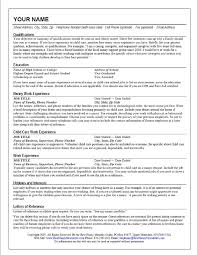 How To Right A Resume For A First Job by How To Write A Resume For A Nanny Position Free Resume Example