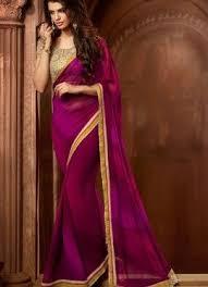 Buy Violet Embroidered Art Silk 237 Best Designer Sarees Images On Pinterest 1 August Designer