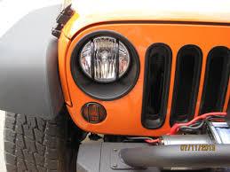 Rugged Ridge Grille Inserts Jeep Jk Rugged Ridge Wrangler Euro Headlight Guards Black 11230 03 07