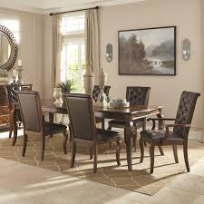 round table orland ca williamsburg 7 piece dining table set by coaster decor