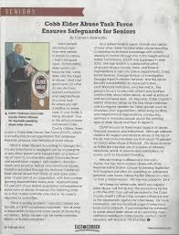 Power Of Attorney Financial Responsibility by Elder Abuse Task Force Featured In East Cobber Magazine