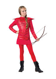 the hunger games halloween costume warrior huntress red costume movie costumes