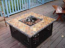 Oriflamme Fire Tables Propane Outdoor Fire Pit Table Blue Rhino Gad860sp Mosaic Tile