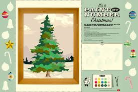 paint by number tree diy paint number pbn cut