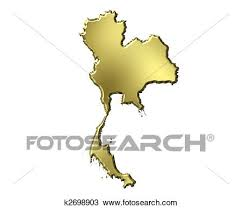 thailand vector map drawing of thailand 3d golden map k2698903 search clipart