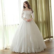 Princess Wedding Dresses Boat Neck 3 4 Sleeve Princess Wedding Dress 2513463 Weddbook