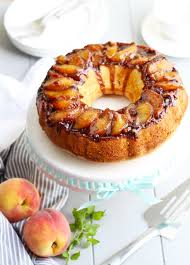 amaretto peach upside down bundt cake 3 yummy tummies