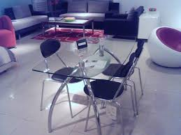table de cuisine inox table en verre cuisine repas extensible noir 120 newsindo co