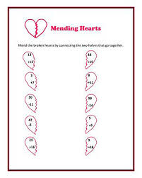 mending hearts u2013 printable valentine u0027s day math worksheet jumpstart