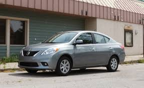 sedan 4 door 2012 nissan versa sl sedan review car and driver