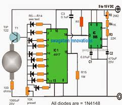 rotating beacon led simulator circuit