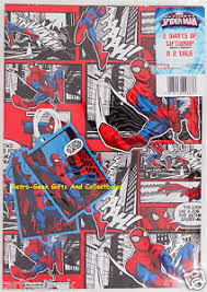 comic wrapping paper wrapping paper 2 sheets 2 tags classic marvel comics