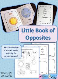 my little book of opposites free printable little books book