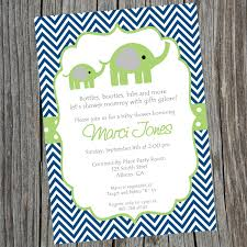 s shower invitations blue and green elephant baby shower invitation printable
