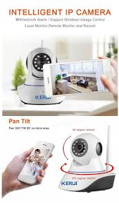 kerui n62 720p wifi p2p network security camera support 32g sd pan
