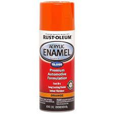 rust oleum automotive 12 oz orange acrylic enamel spray paint