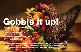 join asu for thanksgiving dinner november 23 inner circle