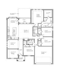 New Homes Floor Plans The Jasmine Seven Oaks New Home Floor Plan Burleson Texas