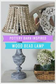 326 best diy home decor images on pinterest crafts creative how to make a pottery barn inspired wood bead lamp