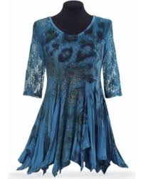 savings on peacock and lace s tunic top