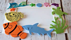 under the sea themed craft kit magnet craft party activity
