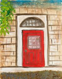 Red Door Paint by Art Store Diane Cunningham