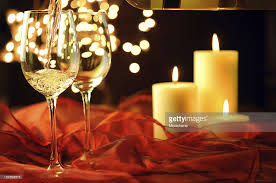 winechristmas and candle lights stock photo getty images