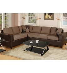 Suede Sectional Sofas Contemporary Microfiber Sectional Sofas Modern Living Room