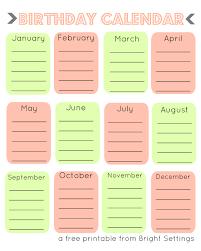 Free Birthday Calendar Template Excel Free Printable Birthday Calendar Templates Blank Calendar Design
