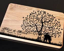 wedding cutting board wedding cutting board jar family tree personalized