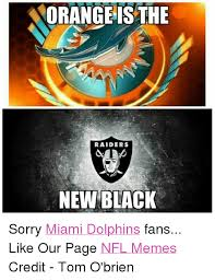 Funny Miami Dolphins Memes - norangeis the raiders new black sorry miami dolphins fans like our