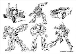 impressive transformer coloring pages print graphic