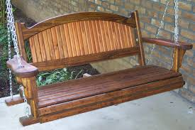 Cool Wood Furniture Ideas Furniture Cool Iron Porch Swings With Chains Holder For Outdoor