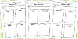 jack and the beanstalk role on the wall worksheets jack and