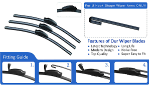 ford focus 1998 2004 front u0026 rear wiper blades 22 19 16 amazon co