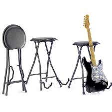 Guitar Bar Stool Stagg Gist 300 Folding Bar Stool And Guitar Stand Woodbrass Uk