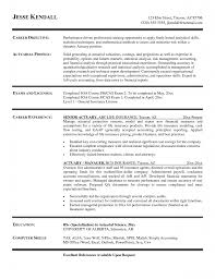 Career Profile Resume Examples Resume Examples 10 Best Of Actuary Resume Template Actuary