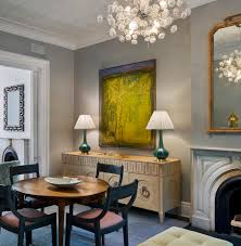 Dining Room Modern Furniture Opposites Attract Modern Art In Traditional Rooms