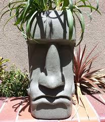 Large Head Planters Easter Island Moai Head Planter The Green Head