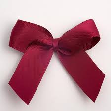 flower bow burgundy satin flower bow wedding favour decoration