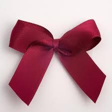 flower bow burgundy satin flower bow wedding favour decoration