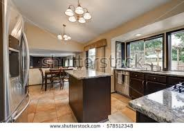 how to design kitchen island classic kitchen room design kitchen island stock photo 578512348
